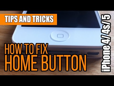 iPhone 4/4s/5 or iPad 1/2/3 How to solve/fix Home Button problem tricks and tips