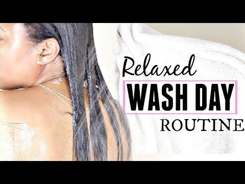 Wash Day Routine For Relaxed Hair 2018