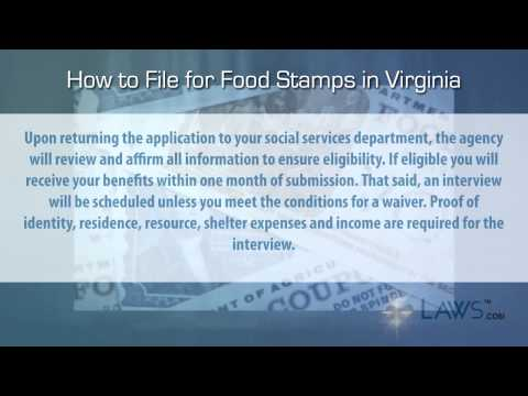 How to File for Food Stamps Virginia