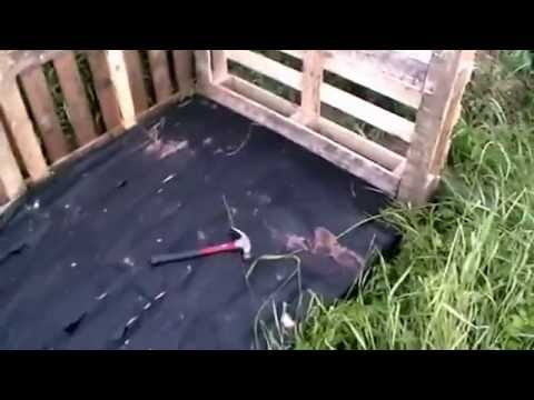 Allotment Diary June 25th 2014 - Building A Compost Heap From Pallets