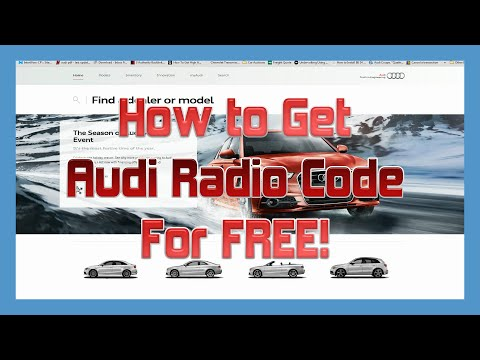 How to Get an AUDI Radio Code For FREE