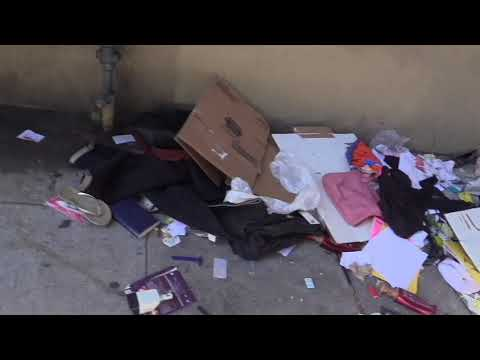Homeless belongings - Eddy st at Van Ness ave,  San Francisco 5 28 2018