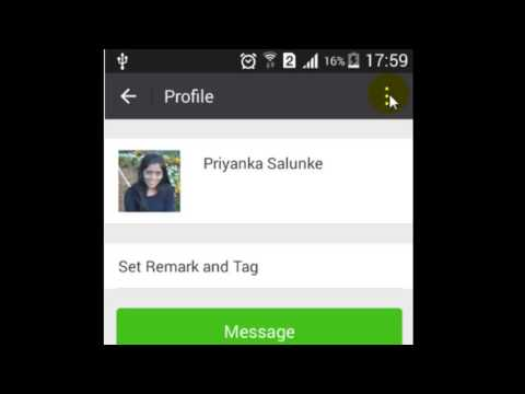 How to hide contact's moments in WeChat