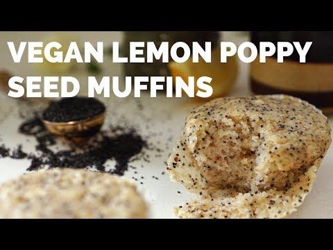 Easy Vegan Lemon Poppy Seed Muffins   Two Market Girls