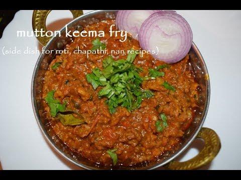 Mutton Keema Fry / ಮಟನ್ ಕೈಮ ಗೊಜ್ಜು /Mutton keema curry / Side dish for roti, chapathi, nan recipes