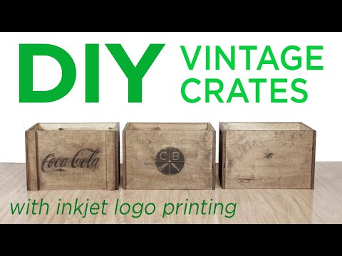 DIY Rustic Vintage Crates | 10 | The Cutting Bored