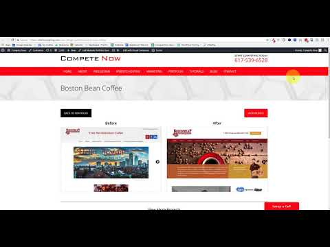 Compete Now Client Homepages - Before and After