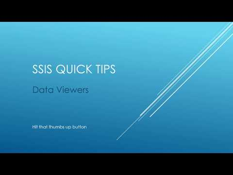 SSIS Quick Tips - Data Viewers