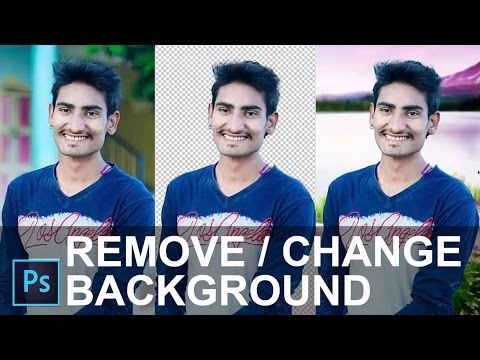 How To Remove/Change Background in Photoshop CC 2015 Tutorial [ In Hindi ]