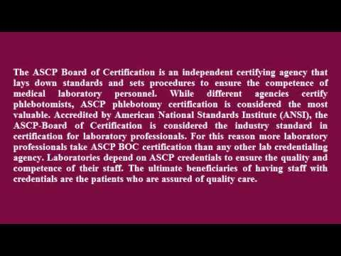 ASCP Phlebotomy Certification