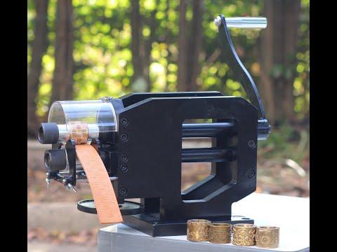 CowBoy 8700 hand crank manual belt and strap embossing machine