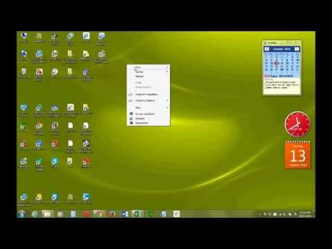 Make your icons on desktop and taskbar smaller or bigger Windows 7