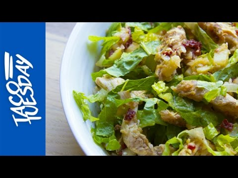 Taco Tuesday: Chipotle Chicken Salad with Avocado, Red-Skin Potatoes and Romaine