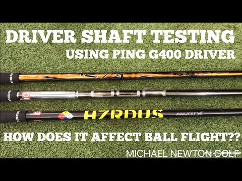 Driver Shaft Testing & How It Affects Ball Flight & Distance