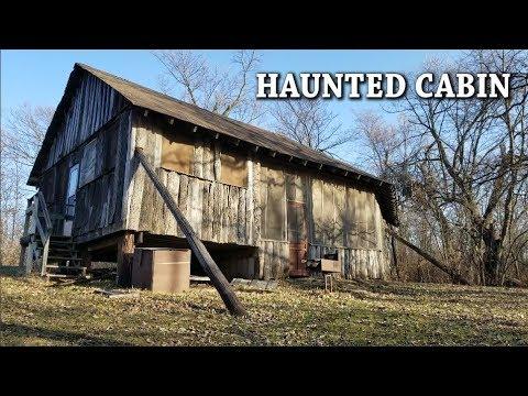 HAUNTED CABIN - EMPTY CAMP CABIN - BUNK BEDS - DEEP WOODS