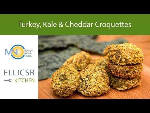 Turkey, Kale & Cheddar Croquettes