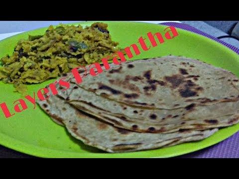 Layers Parantha || wheat layers parantha with less oil || lachha Paratha Recipe.
