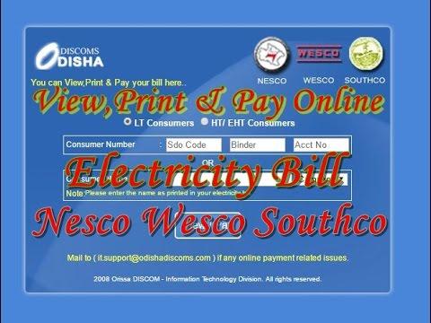 nesco wesco southco bill View,Print & Pay
