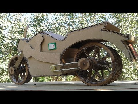 How to make a Motorcycle From Cardboard - Amazing Motorbike DIY