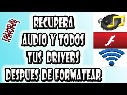 Recuperar el Audio y Otros Drivers Despues de Formatear Windows 7, Visita , XP  2014