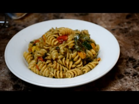Summer Rotini Pasta    with a creamy corn sauce