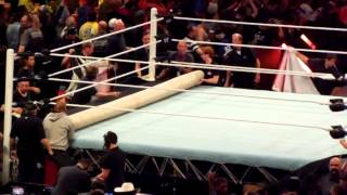 WWE Ring Crew Sets Up for RAW!
