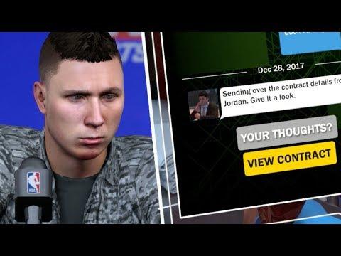 JORDAN OFFERS ME A MAX CONTRACT? NBA 2K18 My Career #11