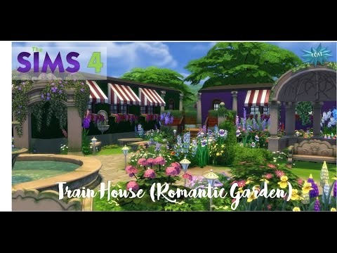The Sims 4 Speed Build: Romantic Garden Train House