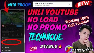 Unlimited Youtube NO LOAD NO PROMO | Not clickbait | Free Internet Connection | TechniquePH