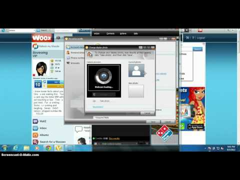 how to put a wzw picture in oovoo
