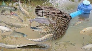 Creative Girl Make Fish Trap Using PVC - Fan Guard - Bamboo To Catch A Lot of Fish