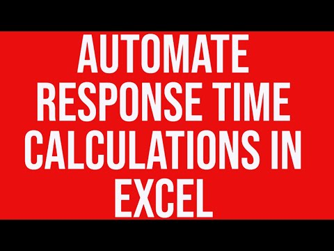 Automate Response Time Calculations in MS Excel Without a Macro