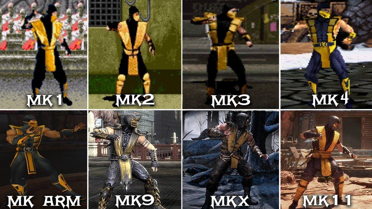 Mortal Kombat - Scorpion Graphics Evolution (1992 - 2020) 1080p 60FPS