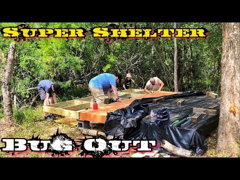 Building Off-Grid Bugout Survival Shelter in the Woods
