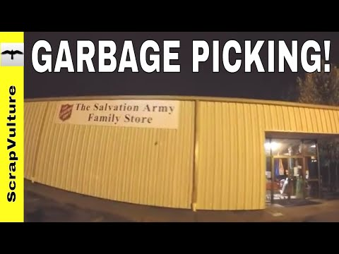 TRASH & SCRAP Action including The SALVATION ARMY Dumpster