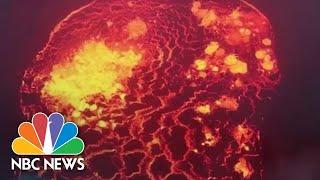 Glowing Destruction: Hawaiian Lava Flow That Has Displaced Thousands | NBC News