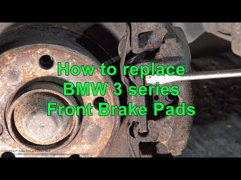 How to replace BMW 3 series Front Brake Pads. Years 2002 to 2018