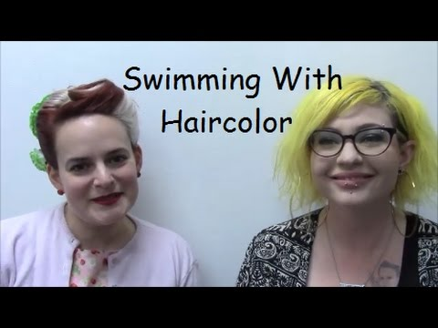 Keep Your Hair Color From Fading While Swimmimg