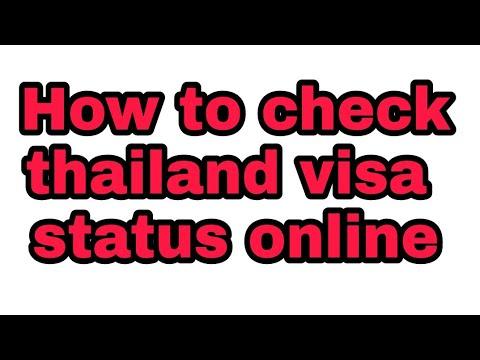 how to check thailand visa staus online | track thailand visa online| verify thailand visa online |