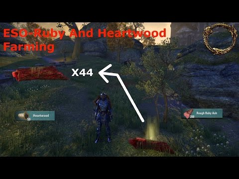 ESO - Best Heartwood and Ruby Ash Wood Farming Location [No DLC] 2017  avi