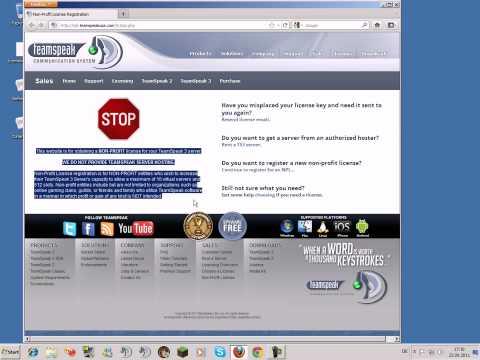 TeamSpeak 3 Server Server Admin NON-Profit License