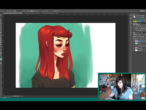 Digital Painting Sketch Timelapse Adobe Photoshop
