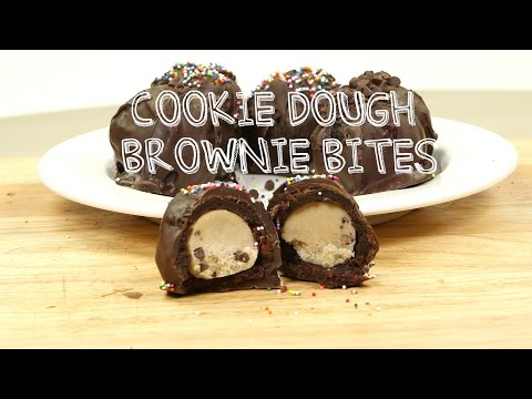 Edible Cookie Dough Brownie Bombs! Dessert Recipes | Food Porn