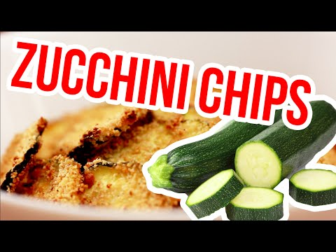 Oven baked Zucchini Chips | HEALTHY RECIPE