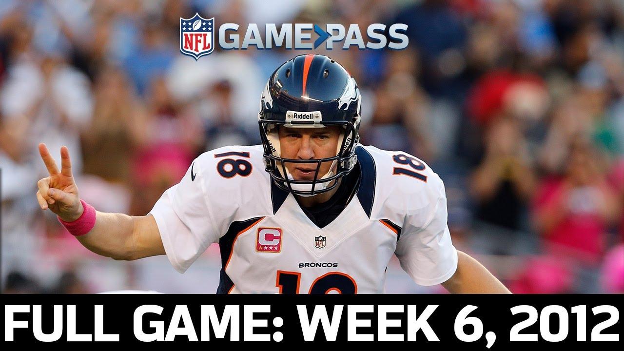 Manning Leads 24-Point Comeback! Denver Broncos vs. San Diego Chargers Week 6, 2012