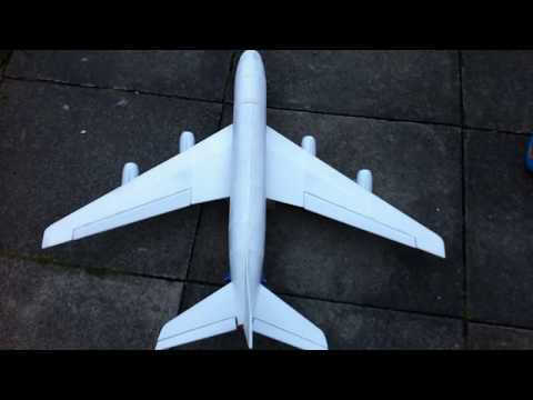 AIRBUS A380-800 Depron RC AIRPLANE BUILD VIDEO BY (RAMY RC) - Airbus