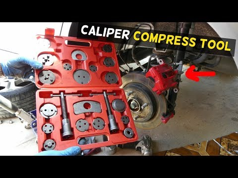 HOW TO COMPRESS REAR BRAKE CALIPER PISTON