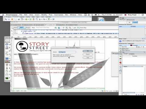 Dreamweaver Tutorial : How to Use Dreamweaver Templates