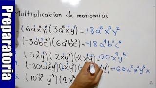 Multiplicación De Monomios | 5 Ejemplos | Hd