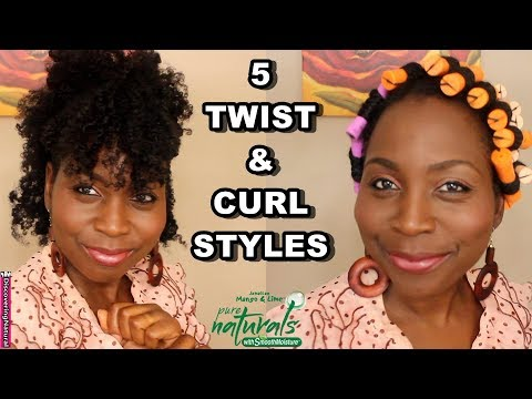 5 Easy Twist N' Curl Natural Hair Styles for Mother's Day ft Jamaican Mango and Lime Pure Naturals